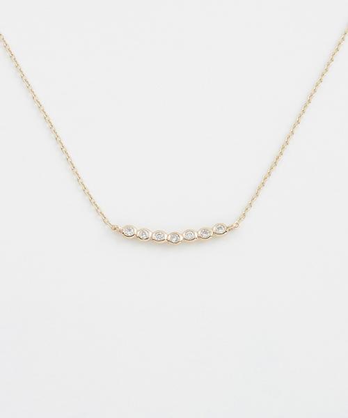 エテ K10YGレイヤー ダイヤモンド ネックレス