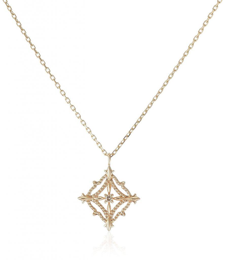 アガットデザインダイヤモンドネックレス