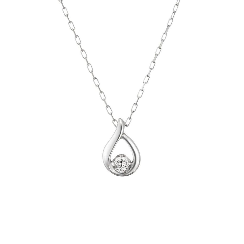 涙型ダイヤモンドネックレス