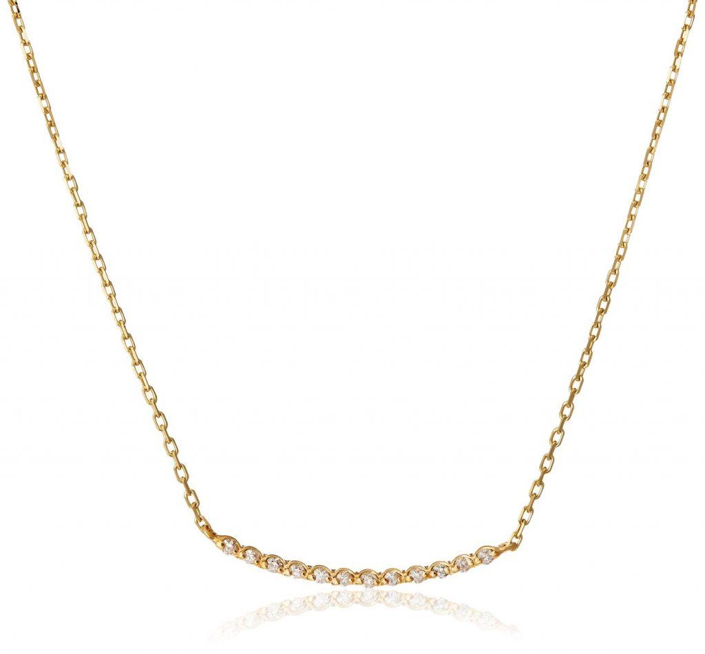 バータイプダイヤモンドネックレス