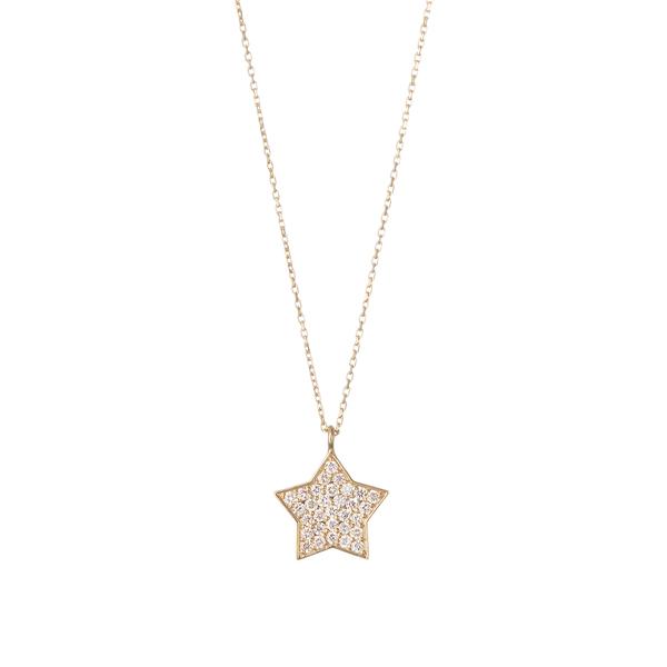 星が煌めくスターチャームのK18ネックレス