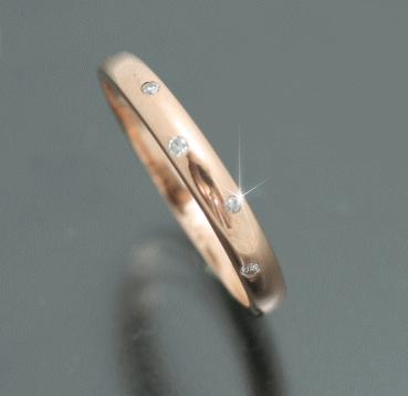 ピンクゴールド指輪
