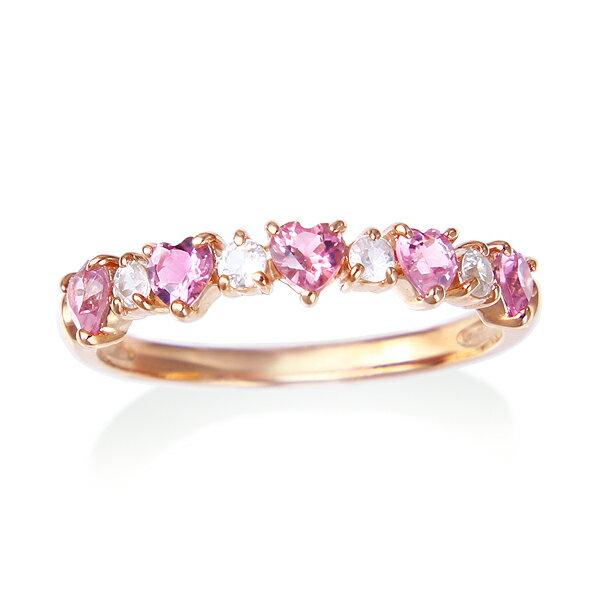 ツツミ、ピンクゴールド指輪