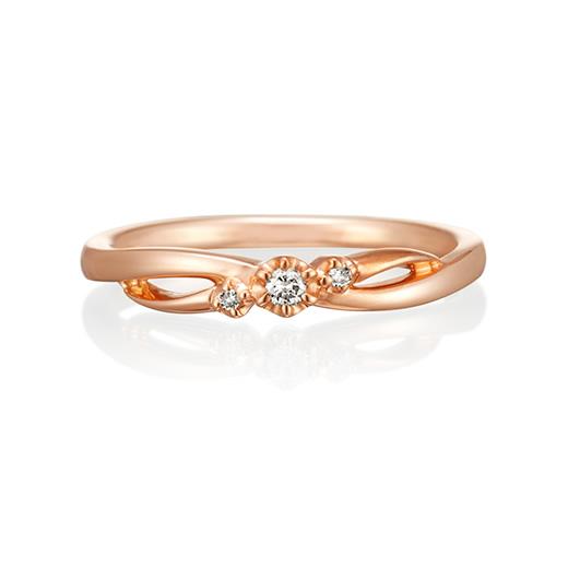 4℃ピンクゴールド指輪