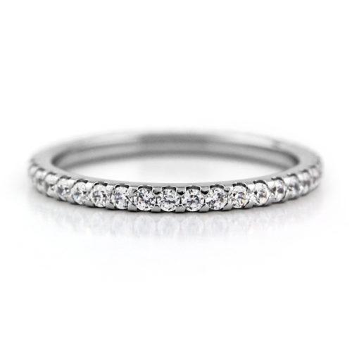 エタニティ ダイヤモンド チタンリング