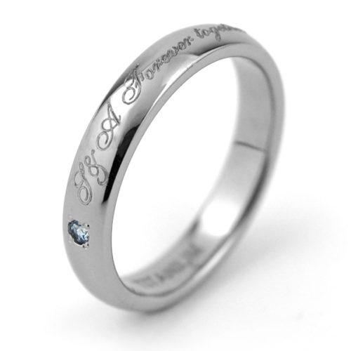 誕生石 刻印 チタン指輪
