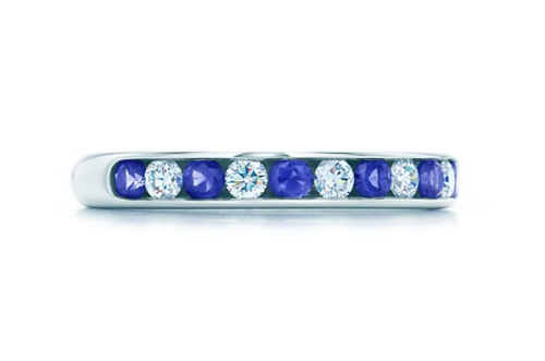 ティファニー、サファイア&ダイヤモンドリング