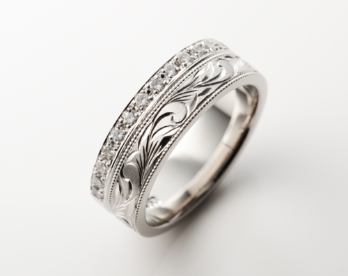 ハワイアンジュエリー プラチナ結婚指輪